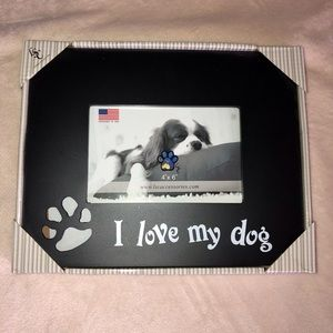 Love My Dog Picture Frame NWT
